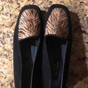 Stuart Weitzman tiger stripe black loafer, 7.5